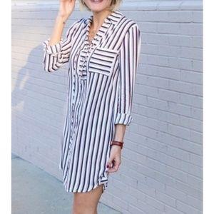 Wayf Nordstrom Stripped Dress NWT Size Medium